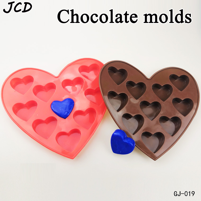 JCD 1pcs/lot New Love Heart Shaped Silicone Molds Fondant Cake Chocolate Mold C524