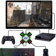 Conversor para controles de jogos de ps4, adaptador de teclado e mouse para xbox one nintendo switch, suporte para jogos de fps