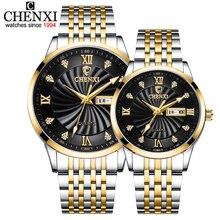CHENXI новые часы для пары Роскошные Брендовые женские или мужские часы кварцевые часы с датой недели наручные часы женские водонепроницаемые часы Montre Femme