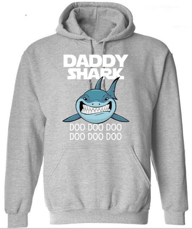 Sweatshirts Daddy Shark Baby Mommy Daddy Matching Family Shark Hoodies Men 2020