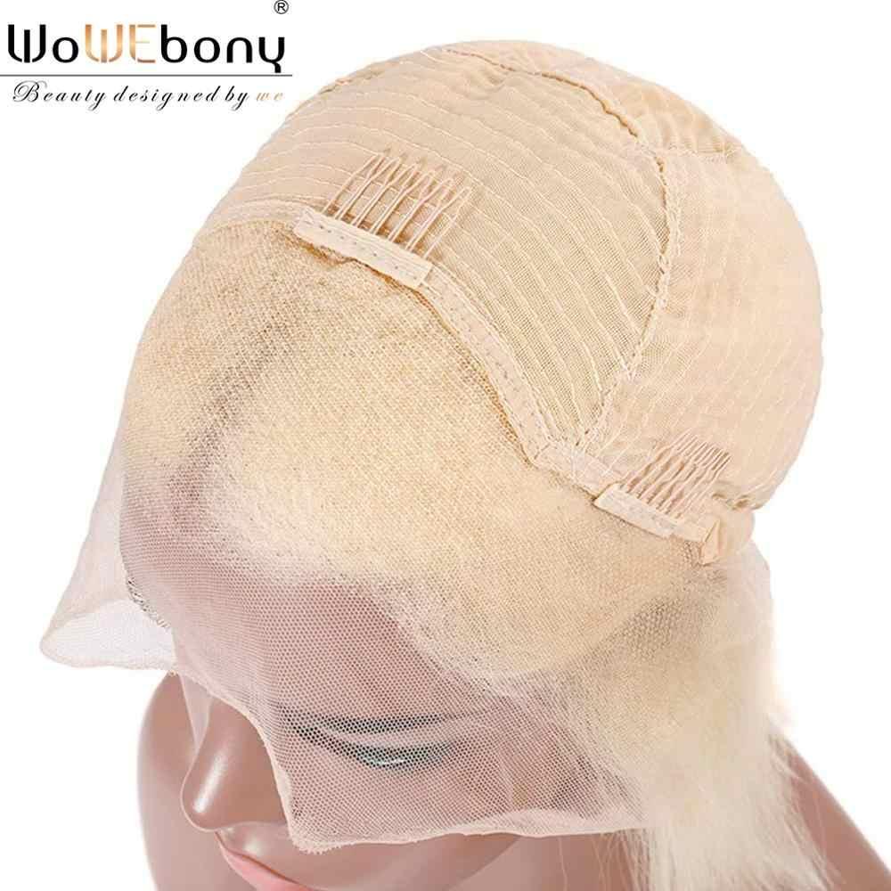 Blonde spitze front perücke lose tiefe 1B 613 spitze front menschliches haar perücken pre gezupft für frauen remy transparent 13*4 spitze vorne perücke