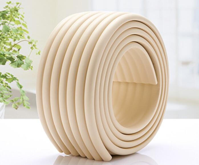 2m W type Thicken NBR Protective strip baby anti-collision strip Security strips Furniture anti-collision foam sponge
