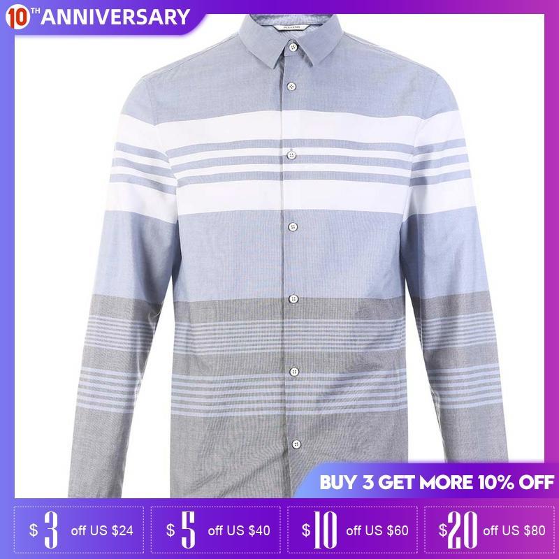 Jack Jones Spring And Summer Men Cotton Stripe Casual Shirt | 218405502
