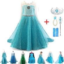 New Elsa Girls Dress for Kids Princess Anna Elsa Costumes Child Cosplay Party Dresses Vestidos Fantasia Infantil Girls Clothing