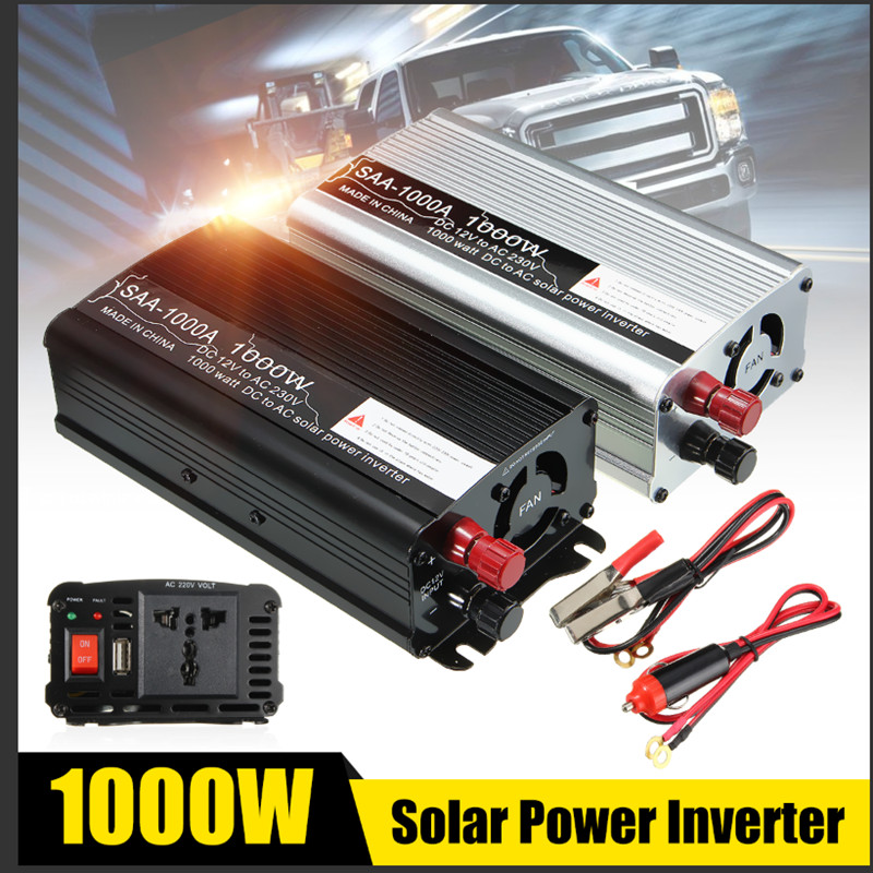 2000W <font><b>Inverter</b></font> <font><b>12V</b></font> 220V <font><b>1000W</b></font> Auto Modified Sine Waves Voltage Transformer Solar Powers <font><b>Inverter</b></font> Converter Car Charge USB image