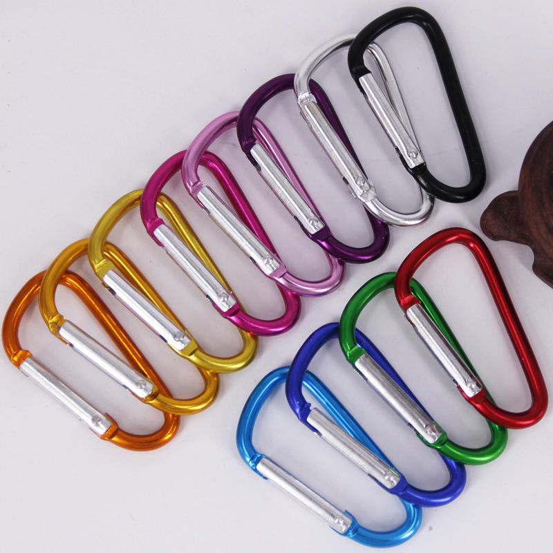 Rings Travel Kit Camp Mountaineering Hook Buckle Keychain Climing Carabiner