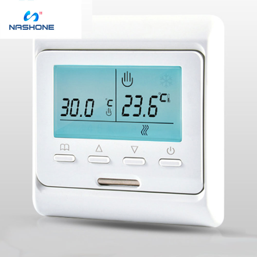 Underfloor Heating Thermostat 240V Dual Voltage LCD Display Programmable With Floor Sensor Air Thermostat Warm Floor Controller