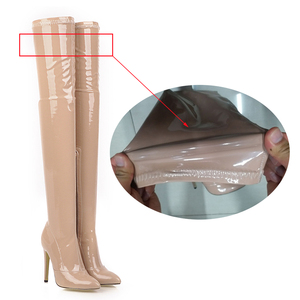 Image 3 - 2021High Heels Over The Knee Boots Women Stretch Thigh High Boots Ladies Autumn Winter Long Boots Shoes Cuissardes Sexy Plus Siz