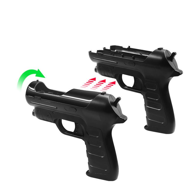 Gamepad Game Accessories Handle Stock Auxiliary Shooting Game Light Gun Gamepad Gun Adds Body Feel for <font><b>PS4</b></font> <font><b>Sony</b></font> <font><b>VR</b></font>/PS3 MOVE image