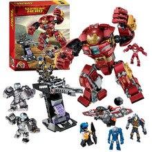 цена на Marvel Iron Man Hulkbuster 76104 Building Blocks Bricks Avengers Super Heroes Spiderman Ironman Figures
