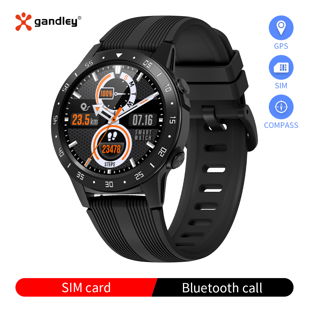 Умные часы для мужчин (GPS + Барометр + высотомер + компас) Спортивные Смарт-часы с bluetooth на базе android IOS фитнес-трекер шагомер часы