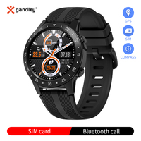 Gandley M5S SIM Card Smart Watches Android iOS Watch with GPS Barometer Compass Bluetooth Call Smartwatch Fitness Tracker Watch