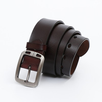 Wholesale Men Retro Fashion Genuine Leather Belt Tour Based on Men's Pin Buckle Classic Youth MEN'S Belt Customizable