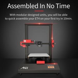 Image 5 - Anet ET4/ET4 Pro طابعة ثلاثية الأبعاد 10 دقائق تجميع مع شاشة لمس ملونة 2.8 بوصة استئناف الطباعة/كشف الفتيل/التسوية التلقائية