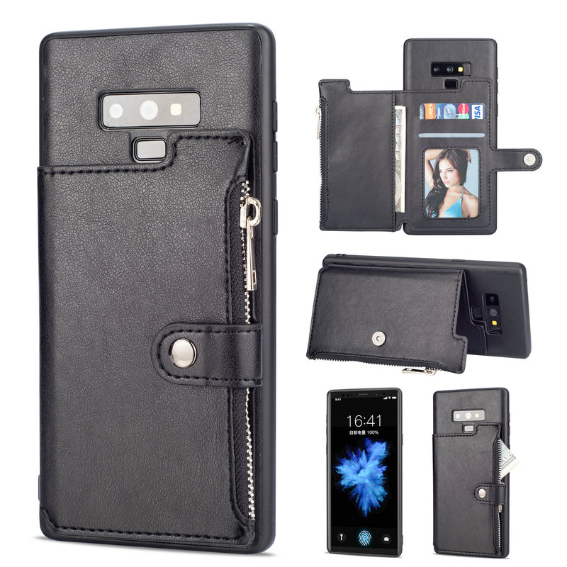 Zipper Wallet Leather For Coque Samsung Note 9 Case S9plus S10e Samsung Galaxy S10 Plus S8 S9 Flip Etui For Samsung Note 10 Plus