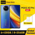 Глобальная версия POCO X3 Pro NFC 6 ГБ 128GB/8GB 256GB Смартфон Snapdragon 860 33 Вт Quad AI Камера 120 Гц DotDisplay 5160 мА/ч, Батарея