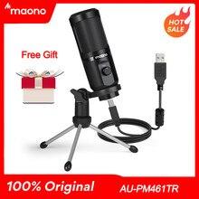 MAONO AU-PM461TR USB Mikrofon Kondensator Aufnahme Laptop PC MIC Für Online Lehre Treffen Live-Streaming Gaming YouTube