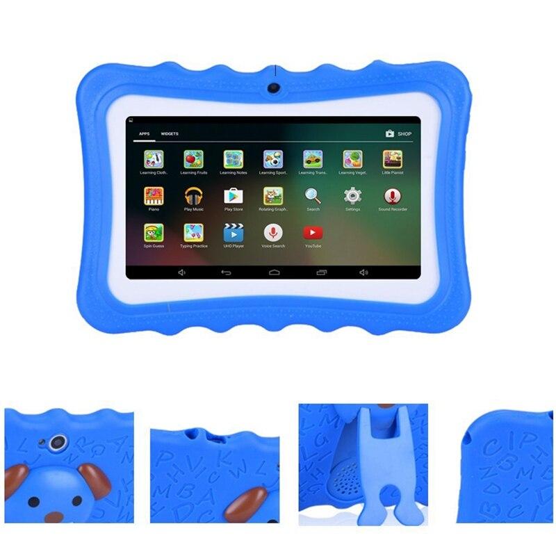 Mise à niveau de la meilleure tablette pour les enfants, écran HD de 7 pouces avec coque en Silicone à l'épreuve des enfants (Quad Core, 8 go, Wifi, bluetooth, caméra avant et arrière - 4