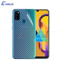 Karbon Fiber Arka Kapak Ekran Koruyucu Samsung Galaxy M02 M01 Çekirdek M11 M21 M20 M30 M31 M40 M51 Sticker Film Cam Değil