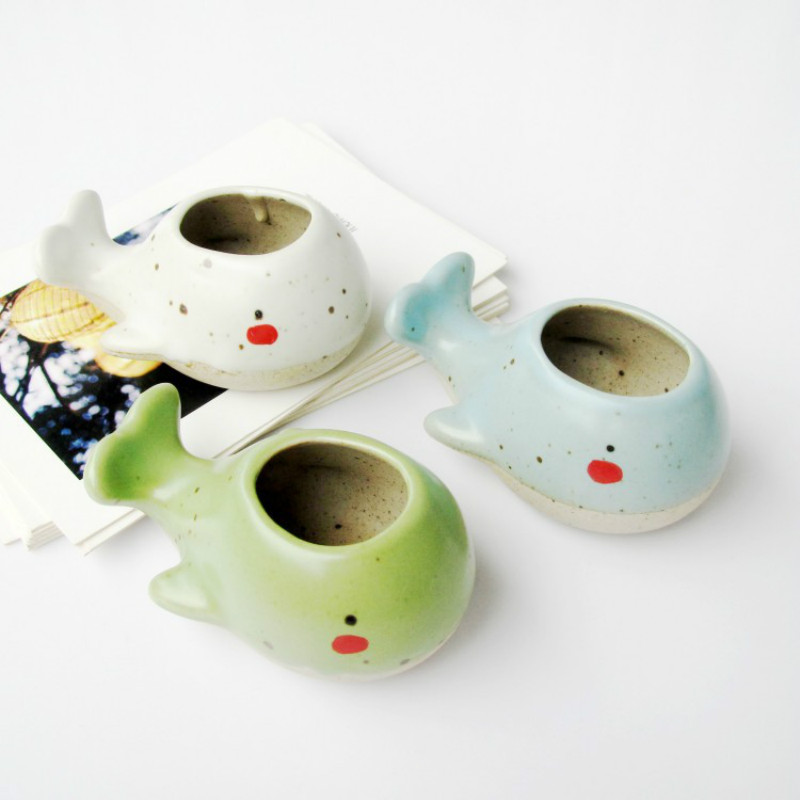 Succulent Flower Pot Mini Hand-painted Thumb Ceramic Home Potted Plant
