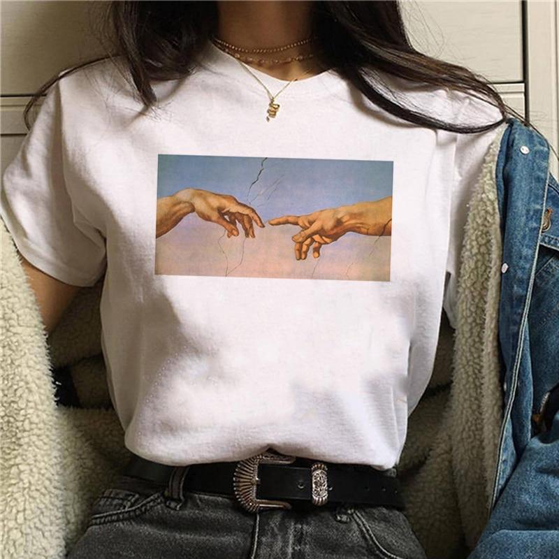 90S Graphic Cartoon T-shirts New Grunge Aesthetic Funny T-shirts Women's Korean Style T-shirts Ullzang Harajuku Fashion T-shirts