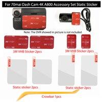 Für 70mai Dash Cam A800 4K Zubehör Set Statische Aufkleber 3M Film und Statische Aufkleber Geeignet für 70 mai Auto DVR 3M film halter