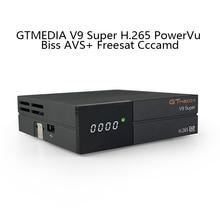 GTMedia V9 Super Satellite Receiver Set Box Bult-In WiFi H.265 Support Europe Cccam Full HD DVB-S2/S Freesat V9 Super Receptor цена