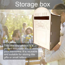 with Lock Wedding Wooden Box 2019 Royal Mail Style Party Celebration Ornament Weding Post Exquisite DIY Retro
