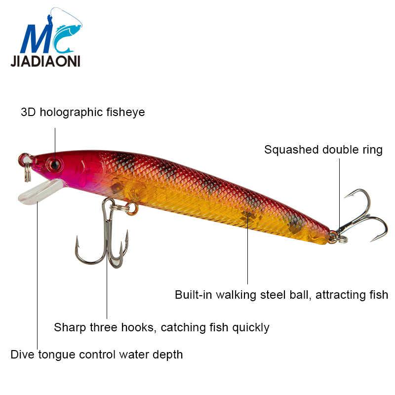 2019 Minnow JIADIAONI 43 pçs/lote Fly Fishing Lure Set China Jia Isca Dura Isca Wobbler Carpa 6 Modelos de Equipamento De Pesca atacado