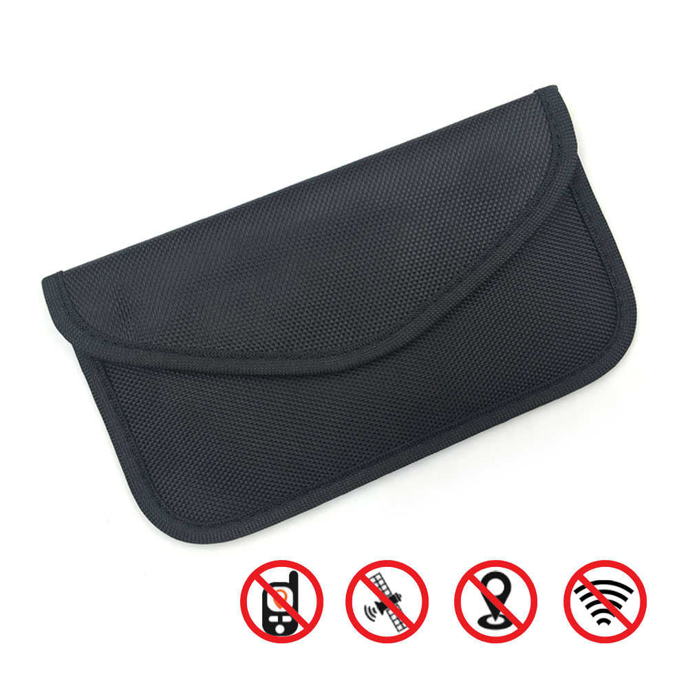 1 sztuk torebka blokująca sygnał samochodowy Fob bloker sygnału Faraday torba torebka blokująca sygnał pokrowiec ochronny portfel etui na kluczyk