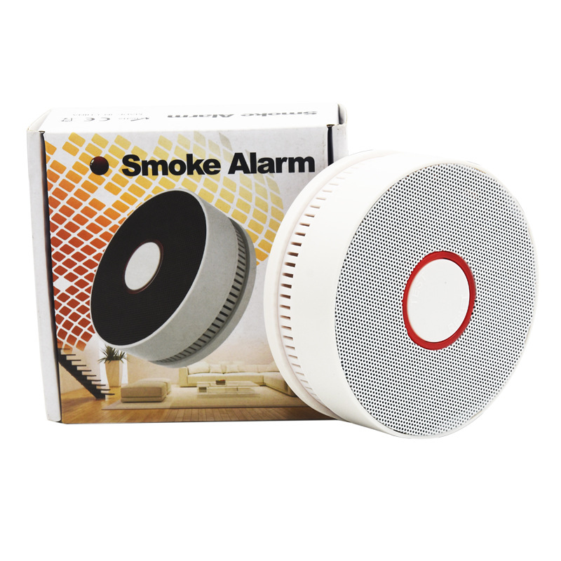 10 Years Life Smoke Alarm Battery Operation Fire Alarm System Stand Alone Smoke Sensor Photoelectric Home Smoke Detector