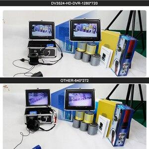 Image 5 - Fisch Finder 1280*720 Auflösung Unterwasser Angeln Kamera 12 stücke Weiß LEDs + 12 stücke Infrarot Lampe Für Eis angeln 16GB Recod