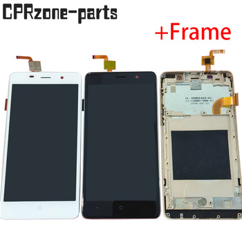 5.0 Black / White / Gold with frame For Leagoo M5 LCD display with touch screen digitizer sensor panel assembly free shipping image