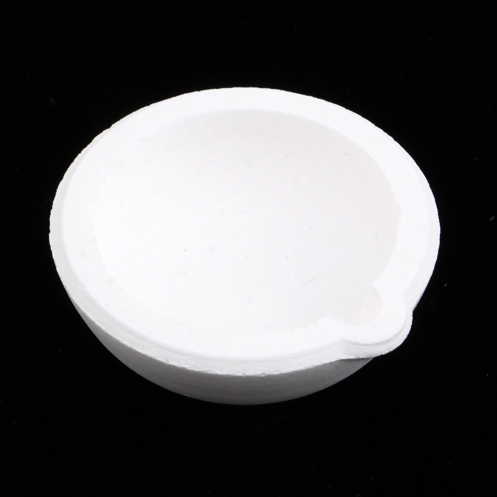100g High-purity Quartz Silica Crucible Dish Cup for Melting Casting Refining Gold Silver Copper Scrap Metal Jewelry
