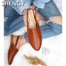 SHENGY Women Flats Shoes Woman