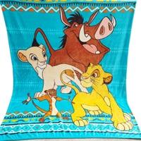Disney Cartoon The Lion King Simba Nala Plush Thick Blanket Throw Winter Warm Sleeping Cover on Bed Bedspread 150x200cm