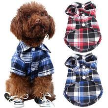 TINGHAO, одежда для собак, милая, для щенков, удобная клетчатая рубашка, пальто, одежда, футболка, размеры XS, s, m, l, товары для собак
