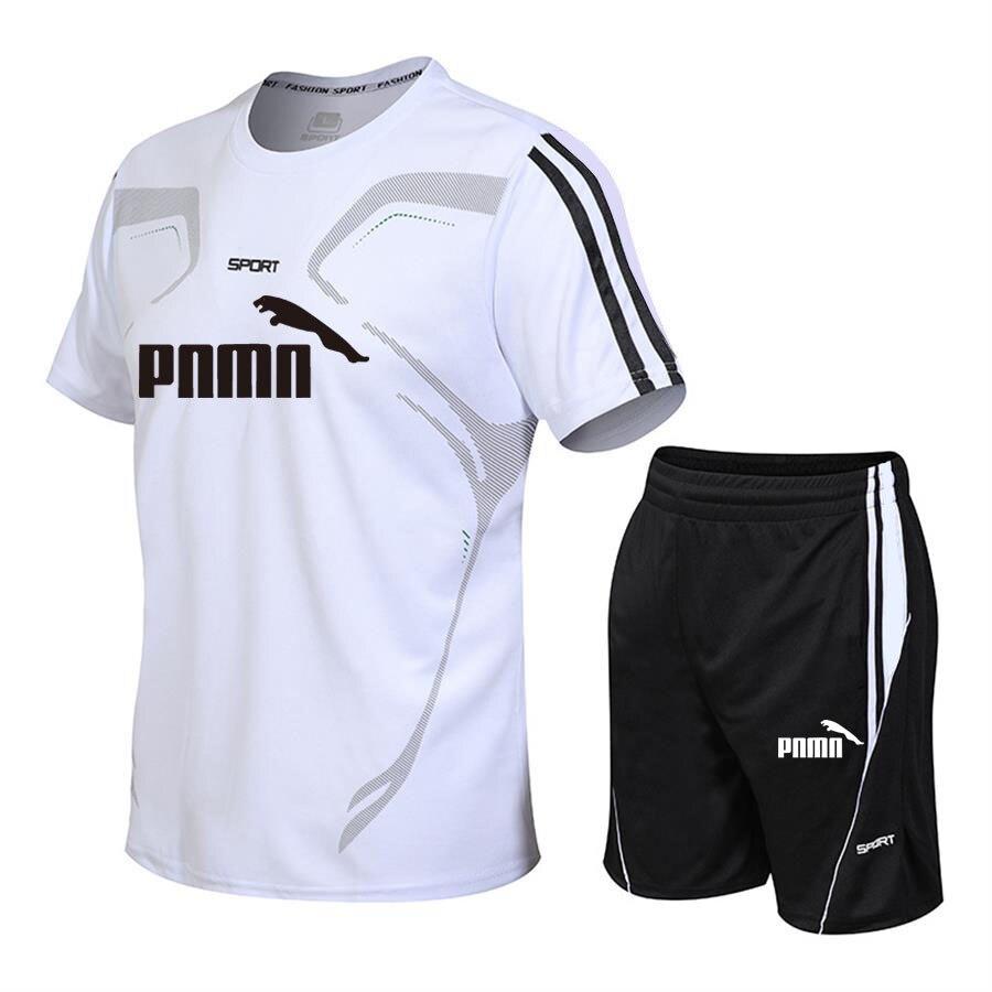 New summer suit men's sports suit fashion casual men's suit men's clothes quick drying T-shirt shorts brand men's sports suit 2