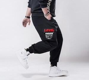 Image 2 - Più il formato 7xl 6xl 5xl Cargo Pantaloni Degli Uomini di Colore Solido Nero Allentato casual Jogger Tasca Elastica In vita Pantaloni di Lunghezza Della Caviglia