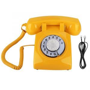 Image 4 - ヴィンテージ電話レトロ固定電話ロータリーダイヤル電話デスク電話コード電話機のためホームオフィス品質