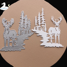 Metal Cutting Stencils Dies Christmas-Deer Scrapbooking/photo-Album Stamps Decorative