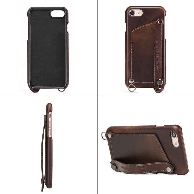 Image 3 - Crazy Horse Retro Genuine Leather Case For iPhone 7 8 iPhone Case  Card Slot Pouch Back Cover For Apple iPhone 7 8 Phone Bag CaseWallet  Cases