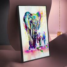 Граффити искусство слона семейный холст фотообои скандинавские