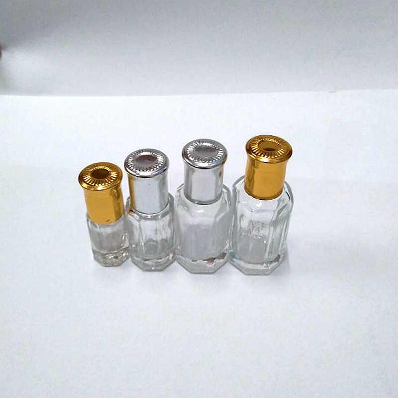 MUB-100 Pcs 3ml 6ml 10ml 12ml Hervulbare Stalen Bal Fles Goud Zilver Cap Lege essentiële Olie Roller Bal Parfum Case