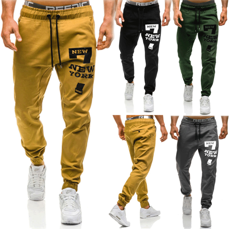 Men Casual Sport Long Pants Slim Fit Trousers Running Joggers Gym Sweatpants Sweat Pants Trousers Casual Long Pants