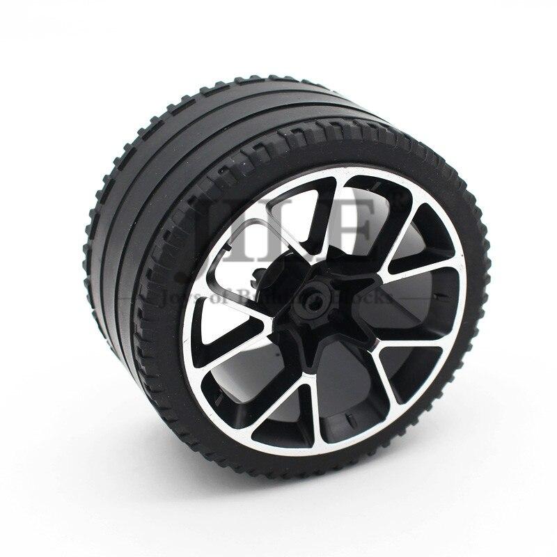 Гоночное большое колесо Moc Technic 62,3 мм D. X42мм с шиной 81,6x44 ZR с прямым протектором 37383pb01 23799, строительные блоки, игрушки