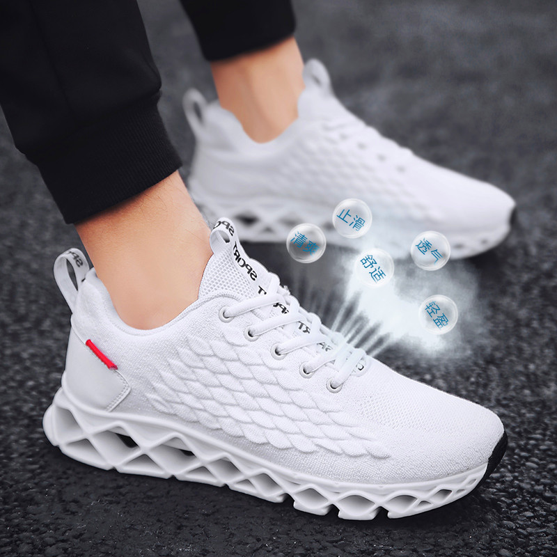 Hot Sale Four Seasons Running Shoes Blade Sneakers For Men Breathable Sports Shoes Outdoor Athletic Training Walking Sneakers