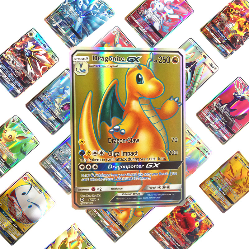 Image 3 - 2019 Best Selling Shining  Pokemones  Cards Game Battle Carte 25 50 100pcs Trading Cards Game Kids Toys-in Game Collection Cards from Toys & Hobbies