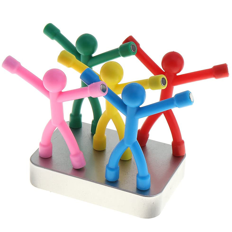 12Pcs Novelty Mini Bendy Rubber Magnet Men Cool Stuff Office Fun Kids And Adults Sensory Toys For Special Needs