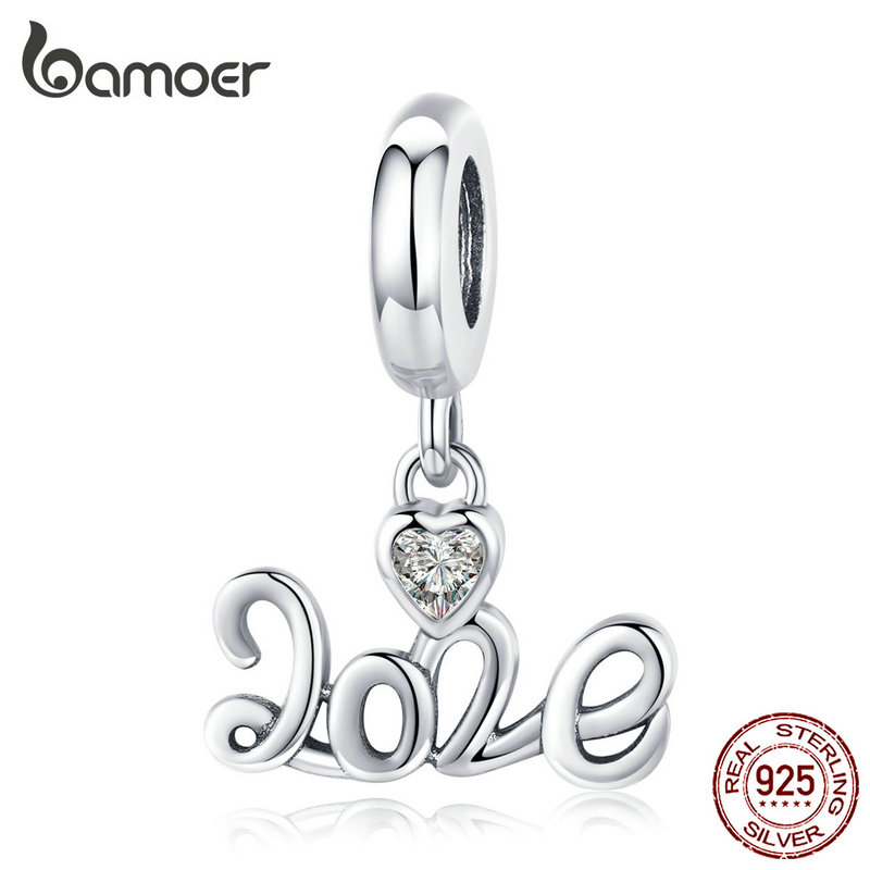 Bamoer 2020 New Year Pendant Charm For Original 925 Silver Bracelet Women Christmas Collection DIY Jewelry Gifts SCC1354